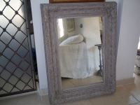 19th century painted mirror