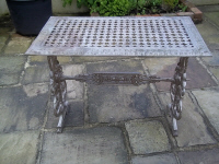 antique cast iron table