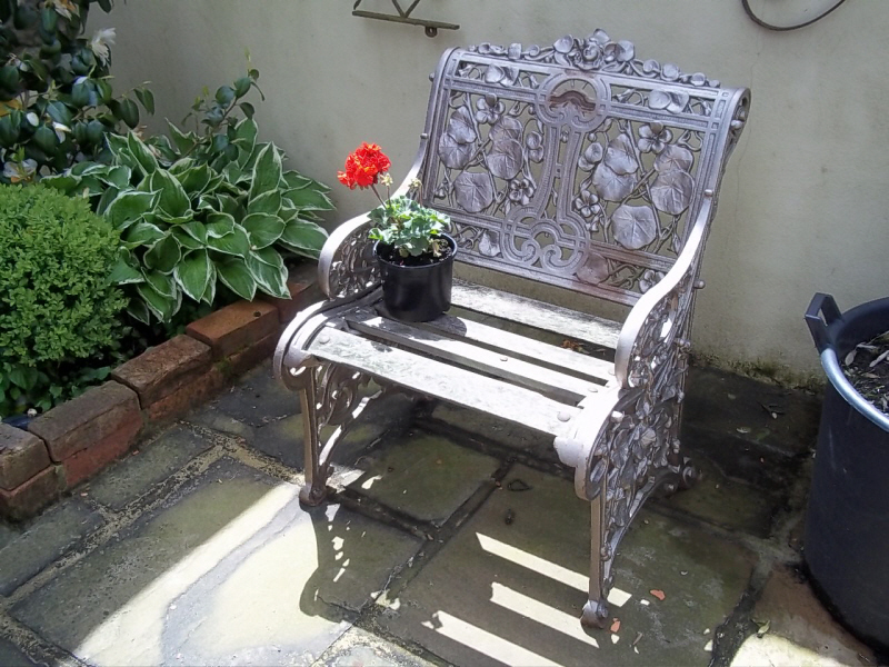antique Coalbrookdale chair