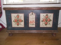 antique original painted large Coffer