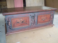 antique original painted coffer