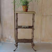 Antique Victorian Cast Iron Plant Table