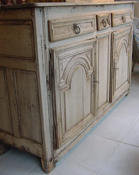 Bleached oak french buffet antique cupboards and dressers for Bleached wood kitchen cabinets