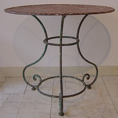 French Round Garden Table - Antique Tables