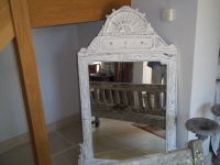 french white painted 19th century mirror