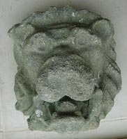 Lions Mask  Head in Stone