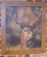 Oil Painting of a Stag