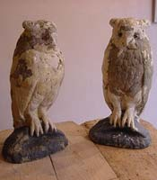 Pair of Owl Statues