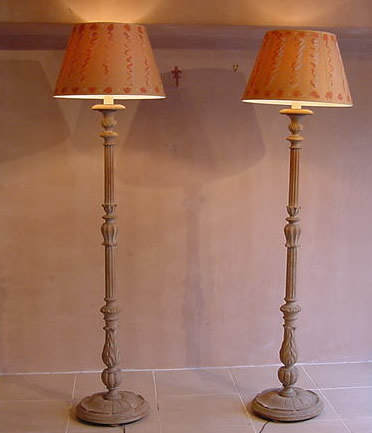 Pair Of Standard Lamps Antique Lighting