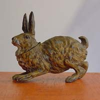 Spelter Inkwell as Hare