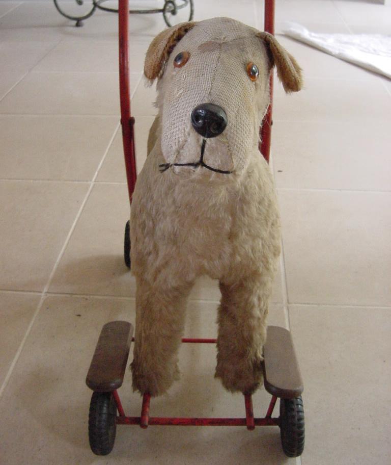 toy dog on wheels antique decorative items