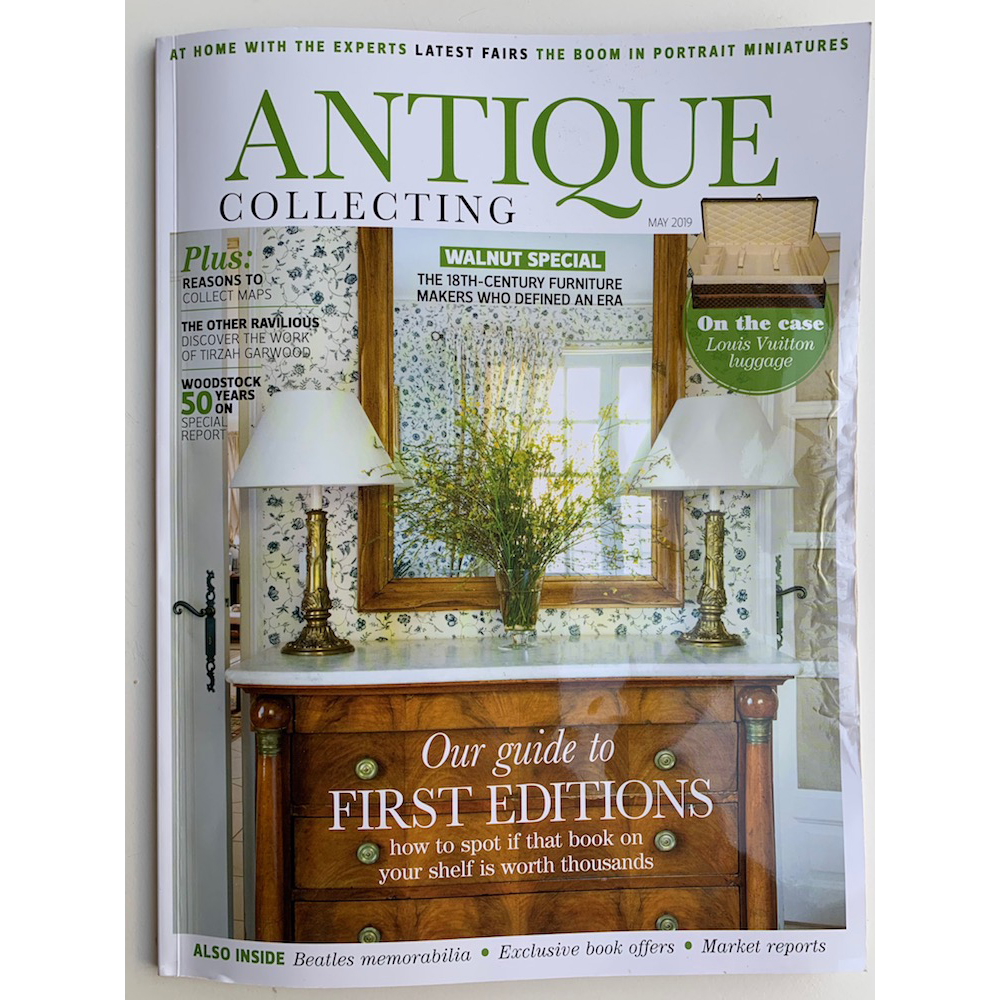 Antiquated - feature in ANTIQUE COLLECTING MAGAZINE, May 2019