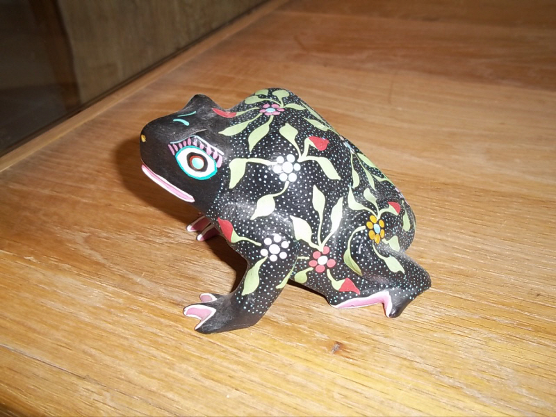 A mexican folk art frog