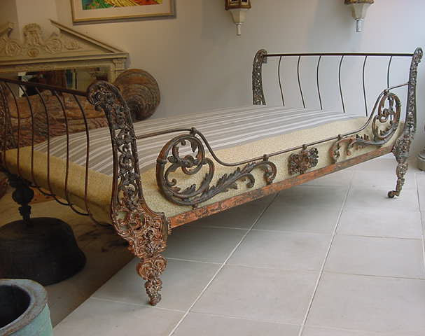 Vintage Wrought Iron Beds For Sale