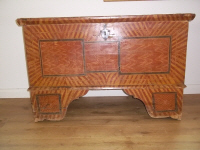 antique germanpainted  coffer