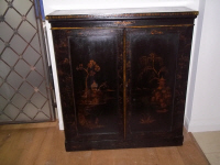 antique laquered cupboard
