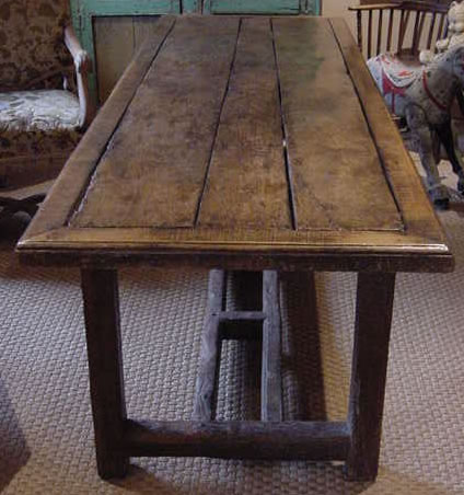 Antique Oak And Elm Dining Table Antique Sold Items