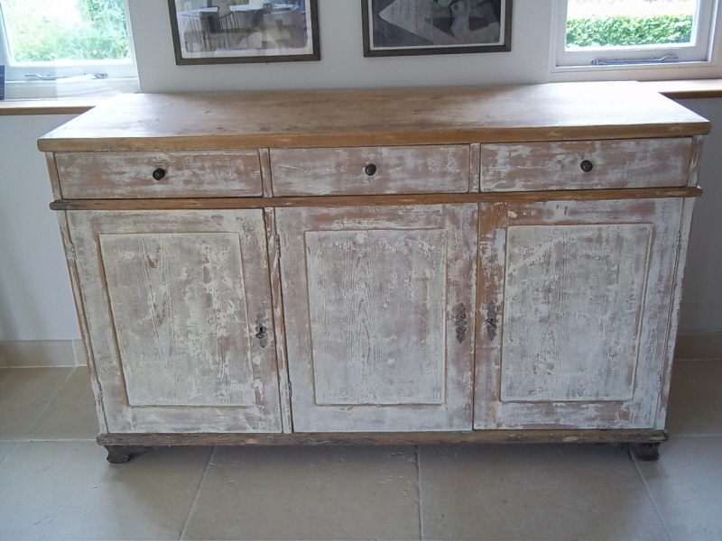 Antique Painted Swedish Dresser Base
