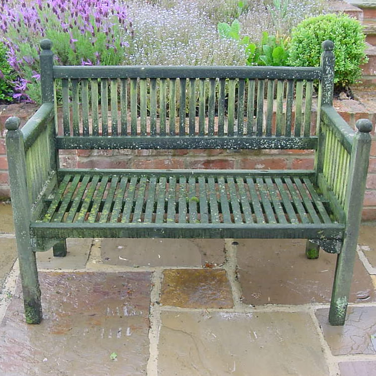 Superbe Antique Wooden Garden Bench