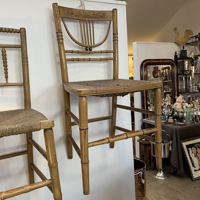 C18th Faux Bamboo Chair 1 of 2