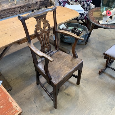 C18th Oak Arm Chair