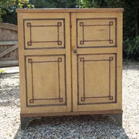 Decorative Antique Painted Cupboard
