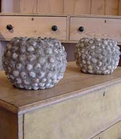 Decorative Shell Patterned Planters