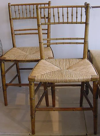 Genial Faux Bamboo Chairs