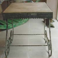French Antique Garden Table