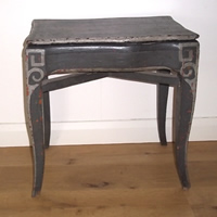 antique painted french footbath