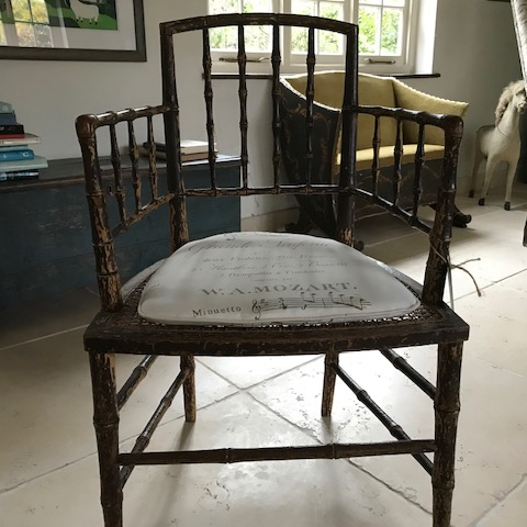 Georgian faux bamboo Chair