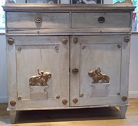 gustavian cupboard - painted side cupboard