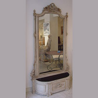 Large Mirror and Planter
