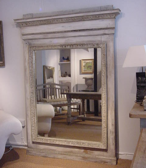 Large Painted Italian Mirror Antique Mirrors