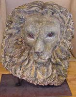 Lions Head Carving