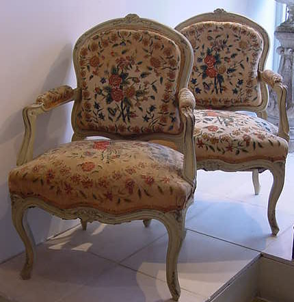 pair of french armchairs antique chairs sofas daybeds