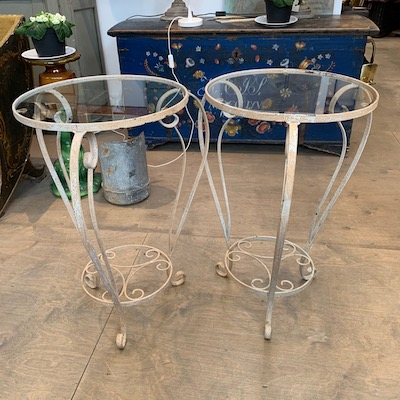 Pair of French Outdoor Tables