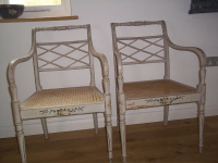 pair of regency chairs
