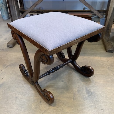 Regency Stool Reupholstered