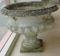Set of 4 Concrete Urns