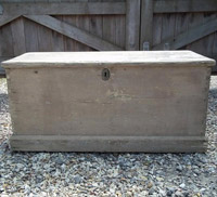 Small Bleached Coffer - Antique Box