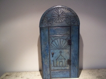 smal antique original painted l cupboard