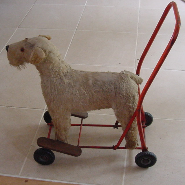 Vintage Toy Dog On Wheels