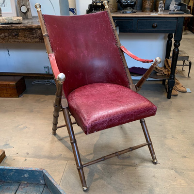 Venetian Folding Leather Chair